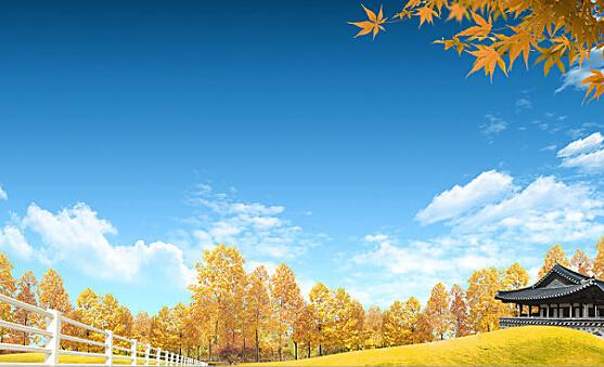 描写秋天天空的句子