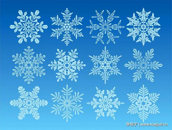 雪花几何矢量图