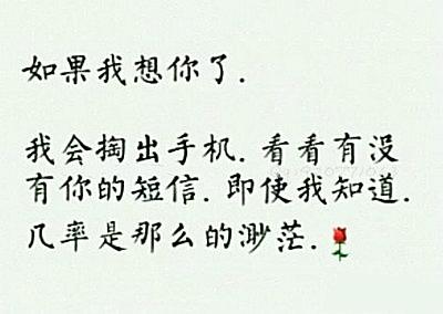 我想你的句子图片带字