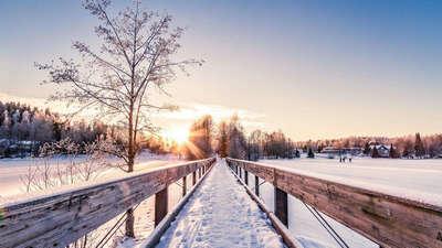 描写冬天景色的句子
