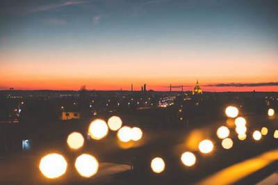 写夜景灯光唯美的句子带图片图片