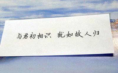 相识是缘分的经典语录【14句】