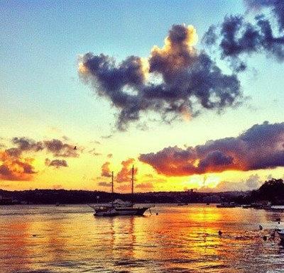 夕阳西下的唯美句子及图片