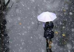 关于雨夹雪的说说及图片