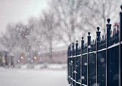 雪花飘飘的句子图片,形容描写雪