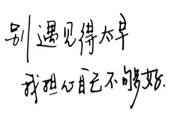 表示说写自己不够好的句子
