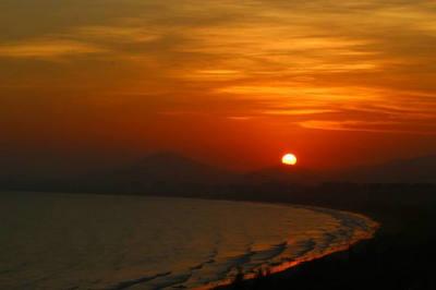 关于夕阳余晖的唯美句子诗句图片