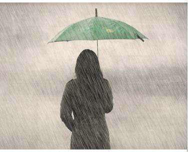 我在雨中的句子