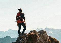阳光唯美励志的句子:有志登山顶