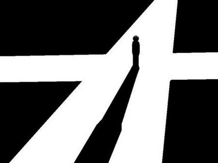十字路口图片迷茫句子