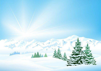 冬天景色描写的一段话