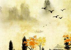 描写秋天的句子和段落:树叶上沙