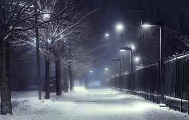 描写冬天夜晚的唯美句子